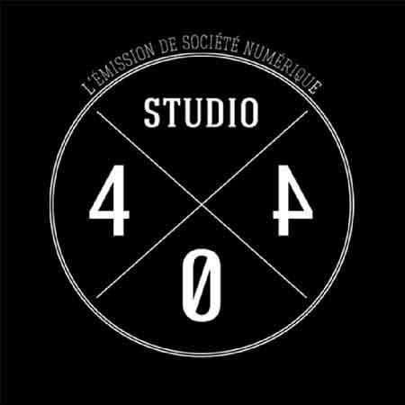 """Illustration du podcast """"studio404"""" avec la représentation d'un cercle divisé en quartiers dans lesquels sont séparément inscrits le mot et les trois chiffres du titre"""