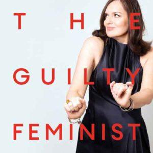 """Illustration du podcast """"the guilty feminist"""" avec une photo de sa productrice en train de danser"""