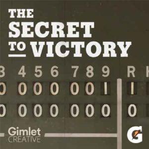 """Illustration du podcast """"the secret to victory"""" avec des chiffres disposés en ligne et en colonne"""